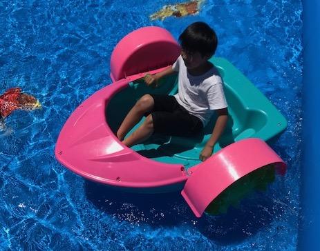 楽しく水遊び!パドルボートで遊ぼう